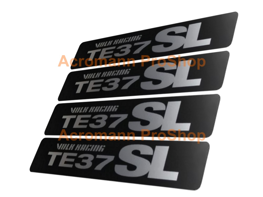 TE37 SL (Volk Racing) 3inch Rim Decal Sticker (Style#3) x 4 pcs